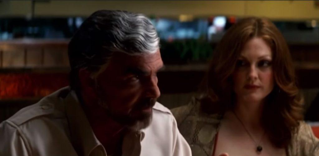 Burt Reynolds alongside Julianne Moore in 'Boogie Nights'