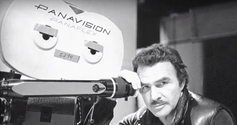 Burt Reynolds on set
