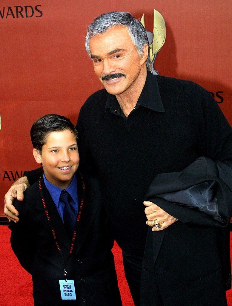 Burt Reynolds and his son, Quinton