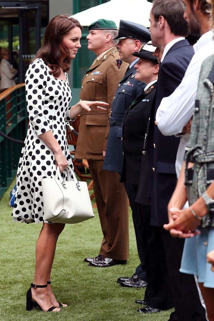 Kate Middleton and her white tote bag