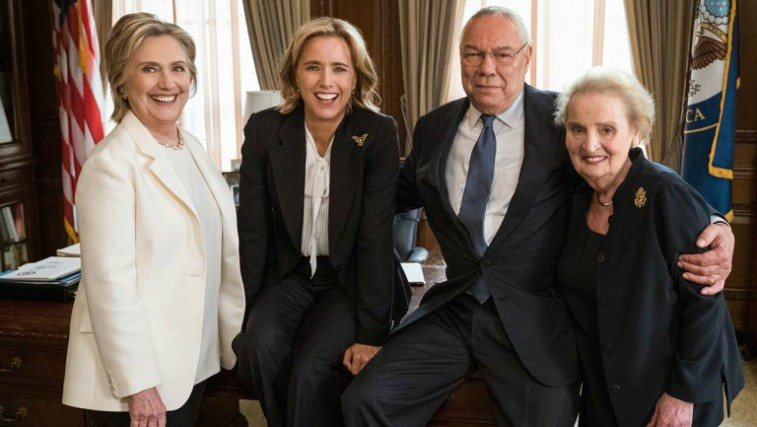 Hillary Clinton, Tea Leoni, Colin Powell and Madeleine Albright
