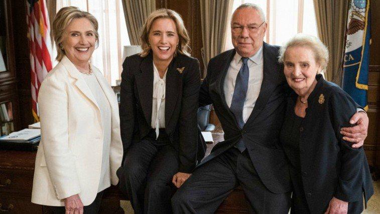 Hillary Clinton, Tea Leoni, Colin Powell and Madeleine Albright