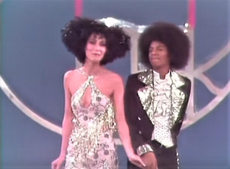 Cher performs with the Jackson 5 in 1975