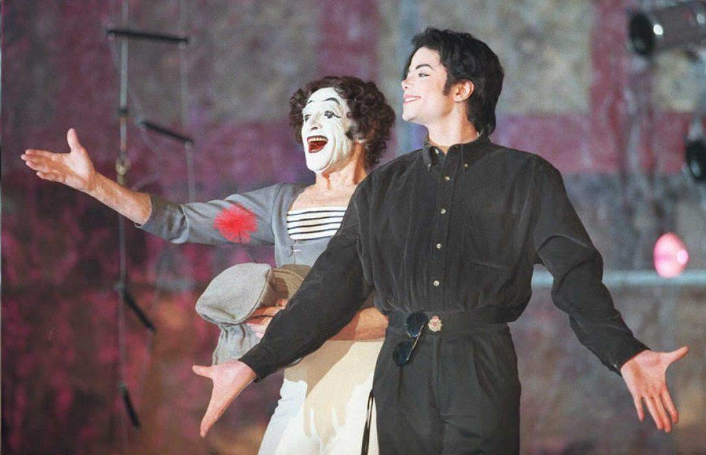 Michael Jackson with French mime Marcel Marceau