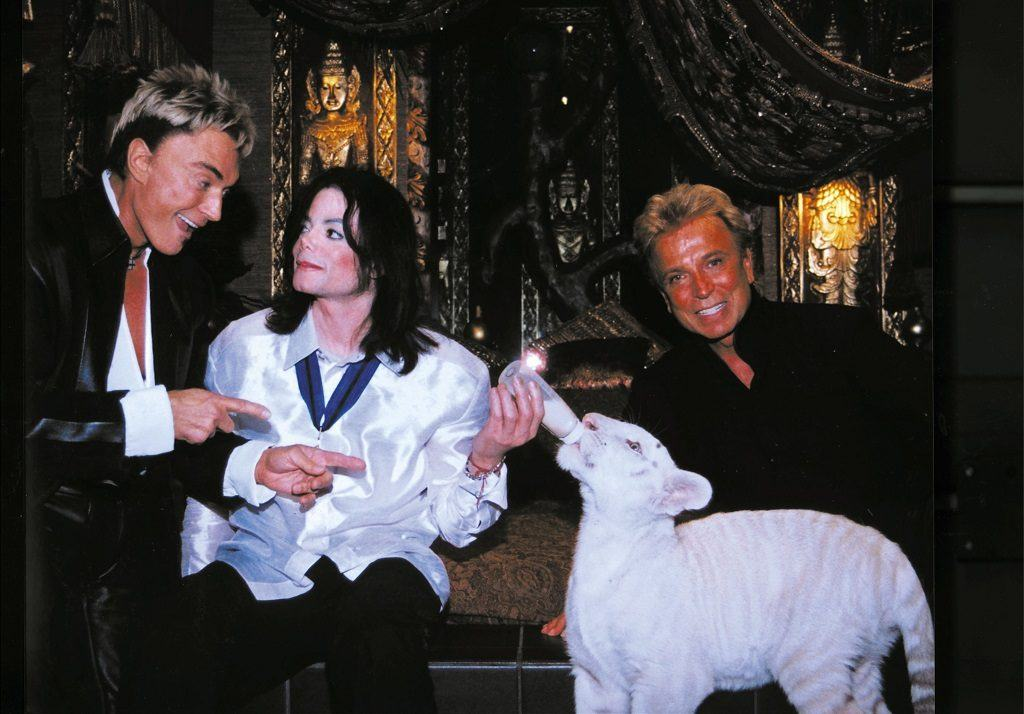 Michael Jackson with Siegfried and Roy