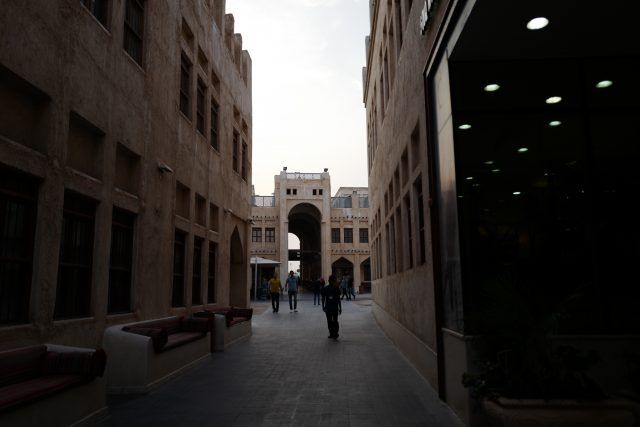 Alley at the Souq Waqif in Doha, Qatar