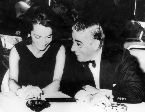 Greek shipping magnate Aristotle Onassis entertains Princess Lee Radziwill during a reception at the Athens Hilton, 7th September 1963.. The princess is the sister of Jacqueline Kennedy, who later married Onassis
