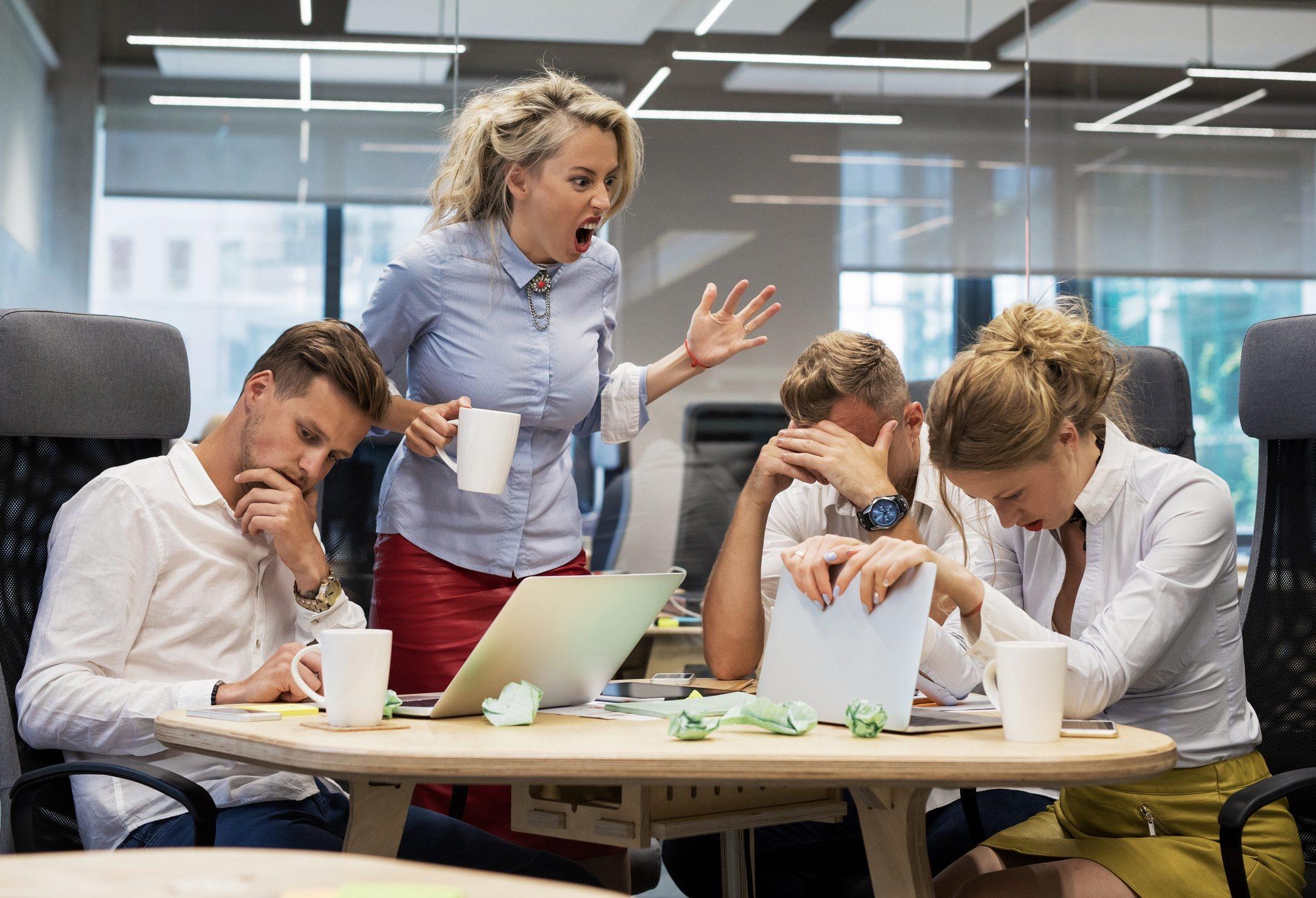 bad boss traits -- yelling, emotional, abusive