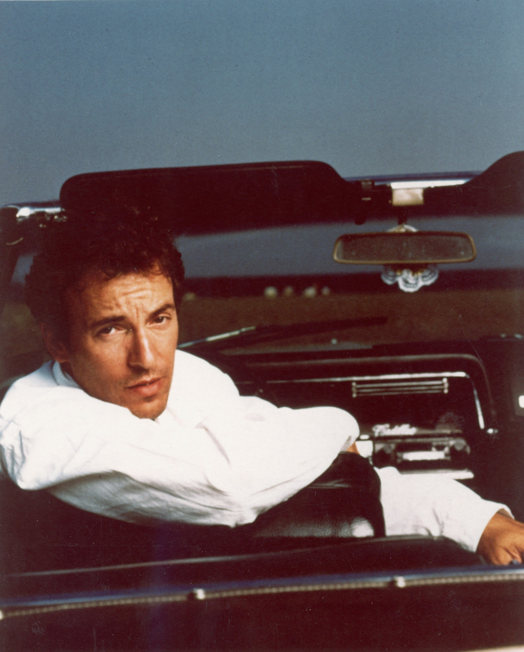 Bruce Springsteen in his convertible
