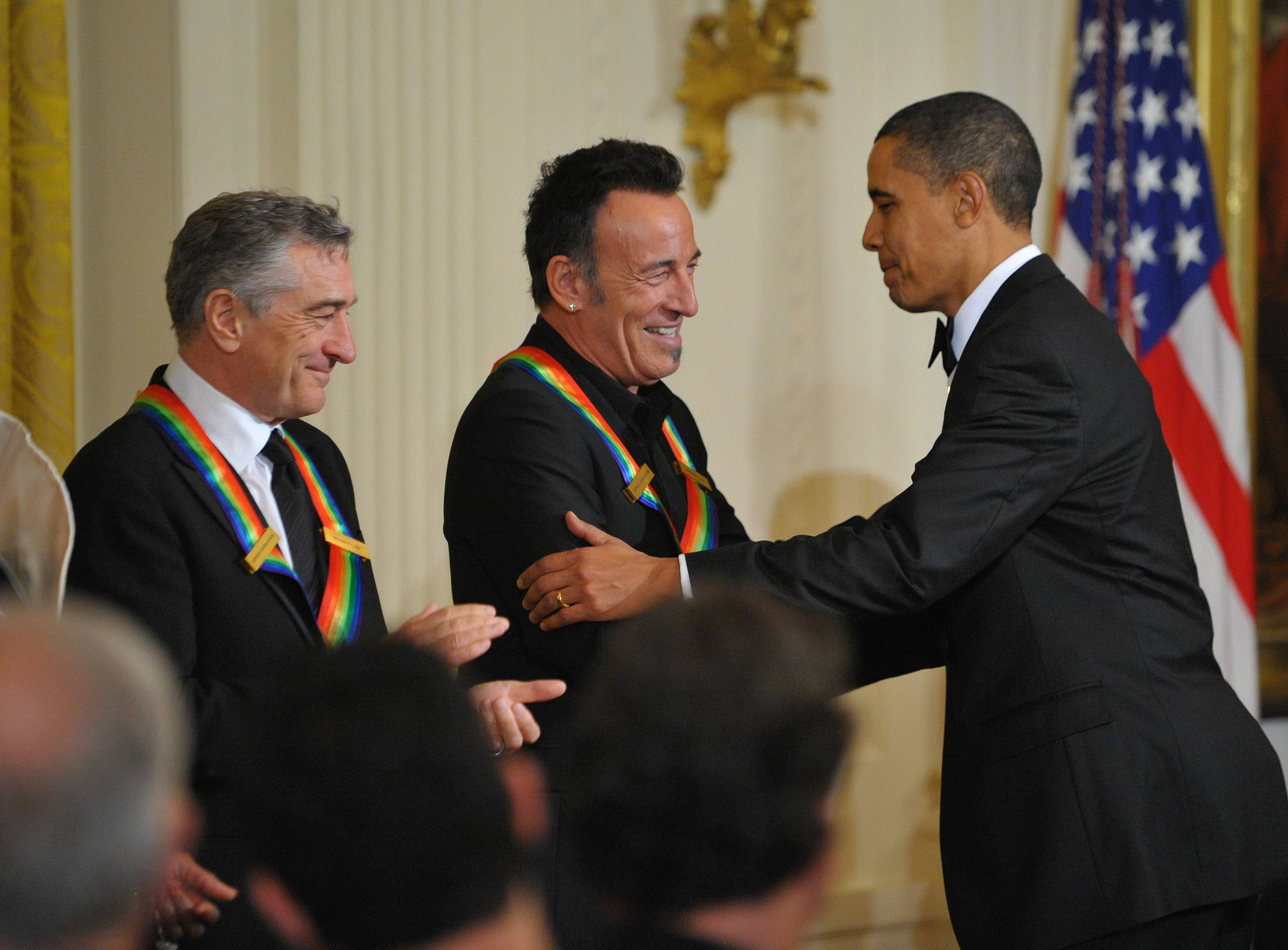 Robert De Niro, Bruce Springsteen, Barack Obama 2009 Kennedy Center Honors