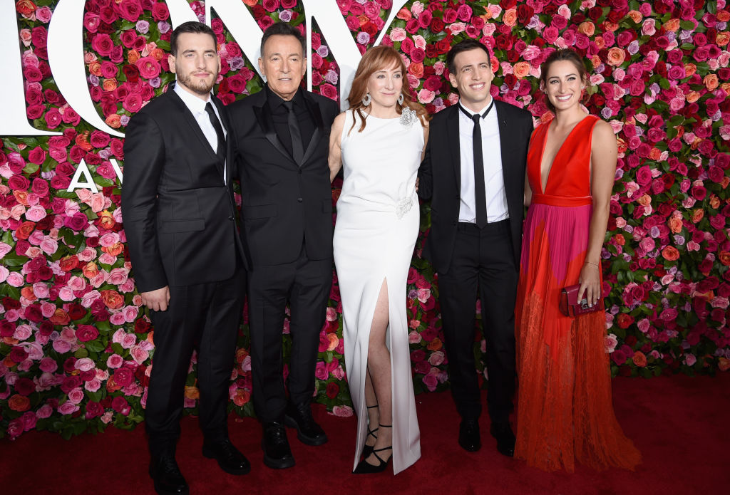 Evan Springsteen, Bruce Springsteen, Patti Scialfa, Sam Springsteen, and Jessica Springsteen