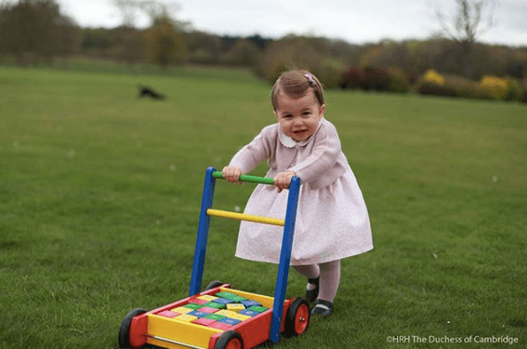 Princess Charlotte outside, 1 year old