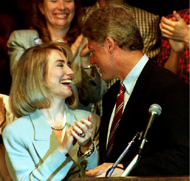Bill Clinton with Hillary Clinton in 1992