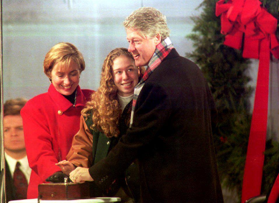 Bill Clinton joins Hillary Clinton and Chelsea Clinton
