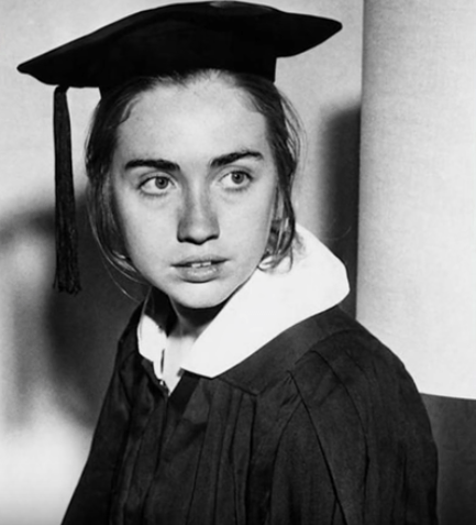 Hillary Clinton after graduating from Wellesley College