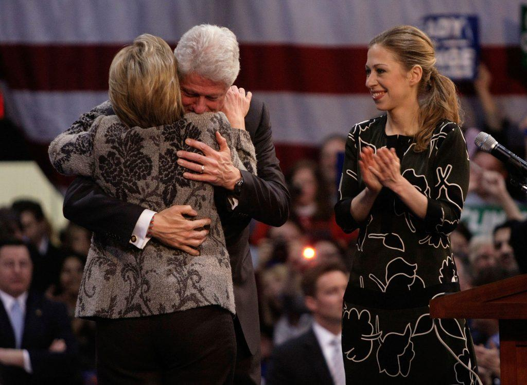 Hillary Clinton, Bill Clinton, and Chelsea Clinton in 2007