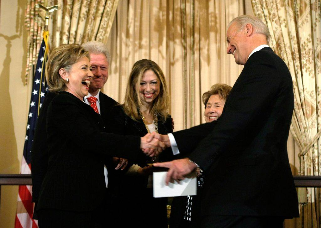 Hillary Clinton is sworn in as Secretary of State