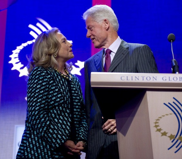 Bill Clinton and Hillary Clinton in 2012