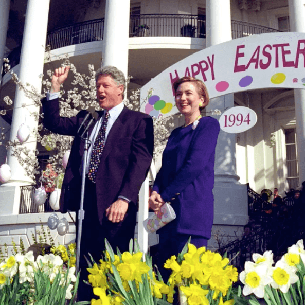 Hillary Clinton and Bill Clinton, Easter 1994