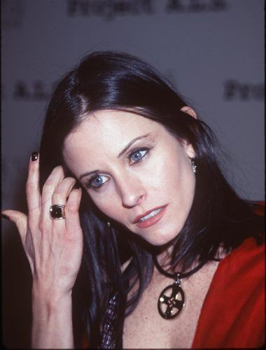 Courteney Cox attends the First Annual Project A.L.S Event in 1999