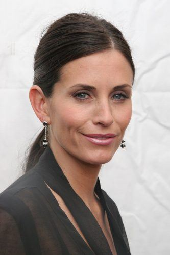 Courteney Cox poses in the W VIP lounge during Olympus Fashion Week in 2005