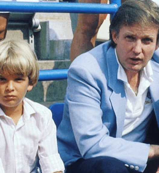 Donald Trump Jr. as a child with father Donald Trump