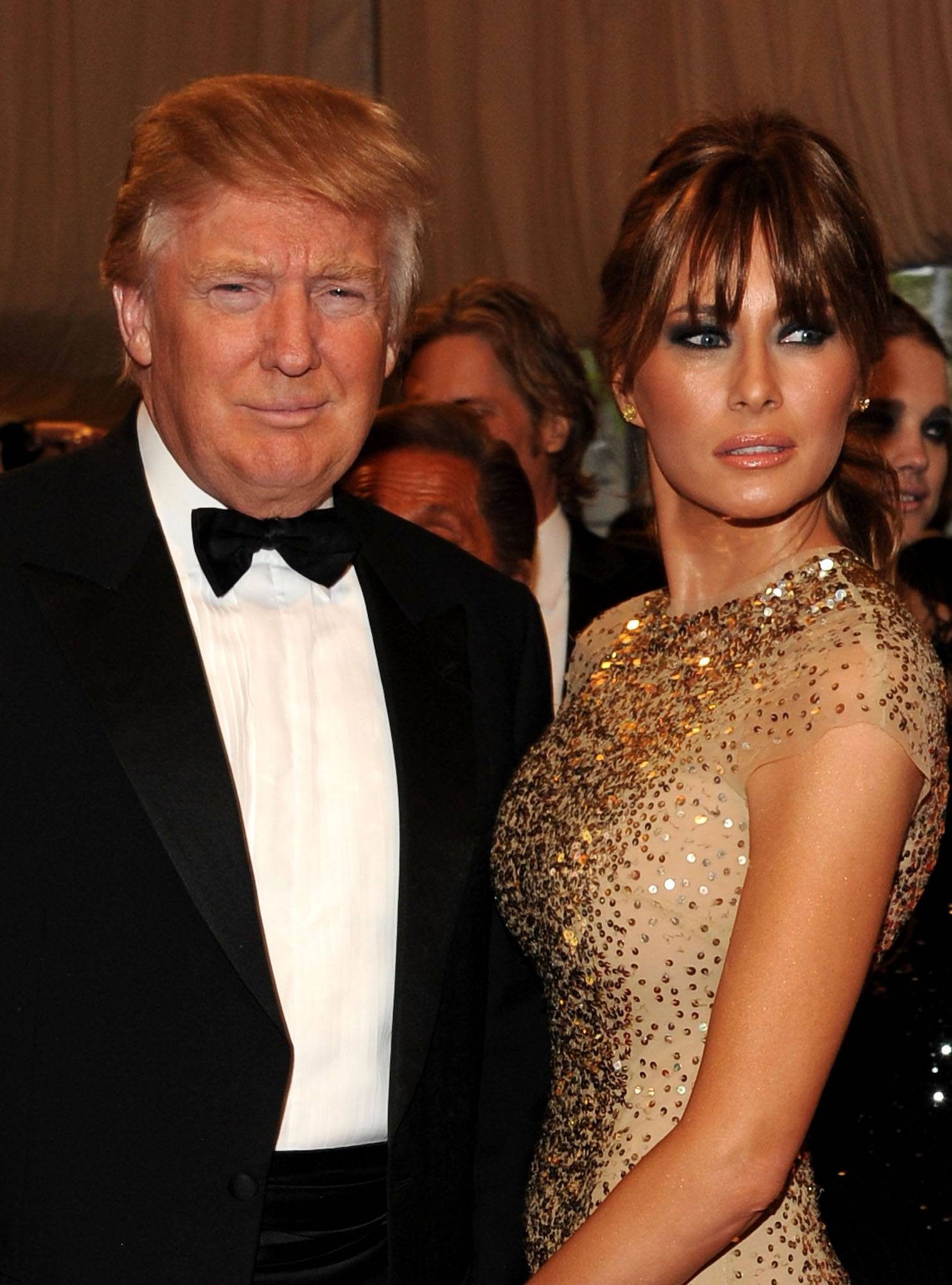 Donald Trump and Melania Trump attend the 'Alexander McQueen: Savage Beauty' Costume Institute Gala at The Metropolitan Museum of Art in 2011