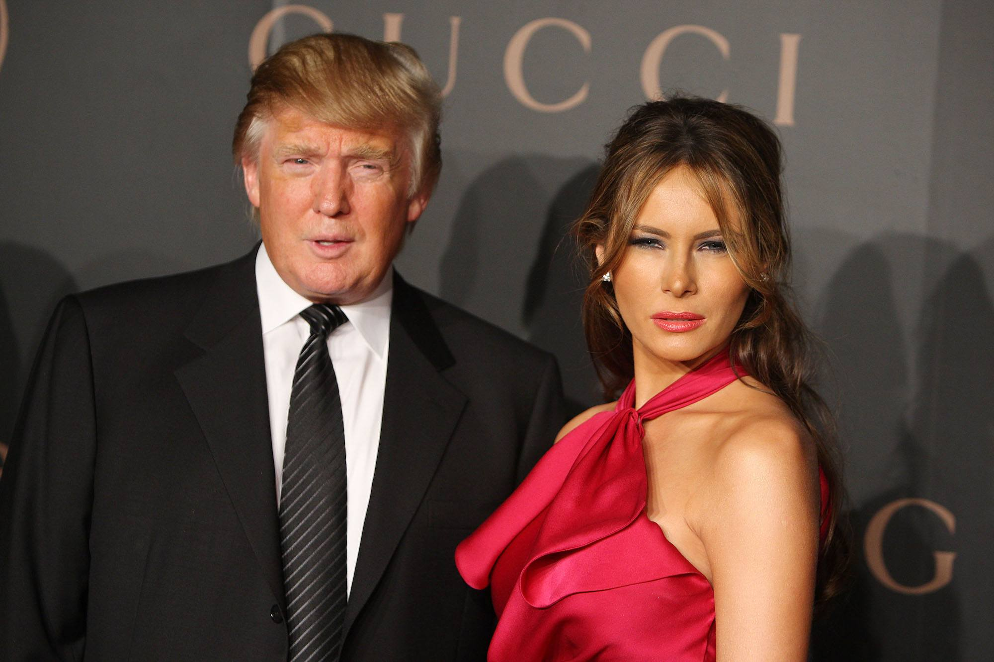 Donald Trump and Melania Trump attend a reception to benefit UNICEF in 2008