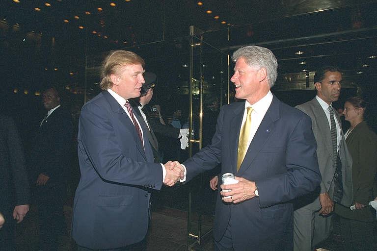 Donald Trump and Bill Clinton
