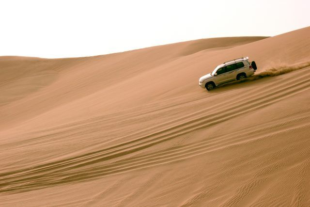 Dune bashing near the Khor Al Adaid in Mesaieed desert, Qatar