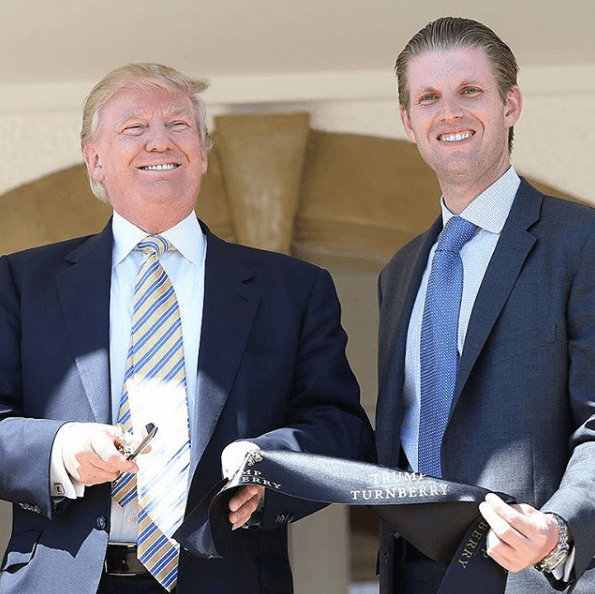 Eric Trump with father Donald Trump