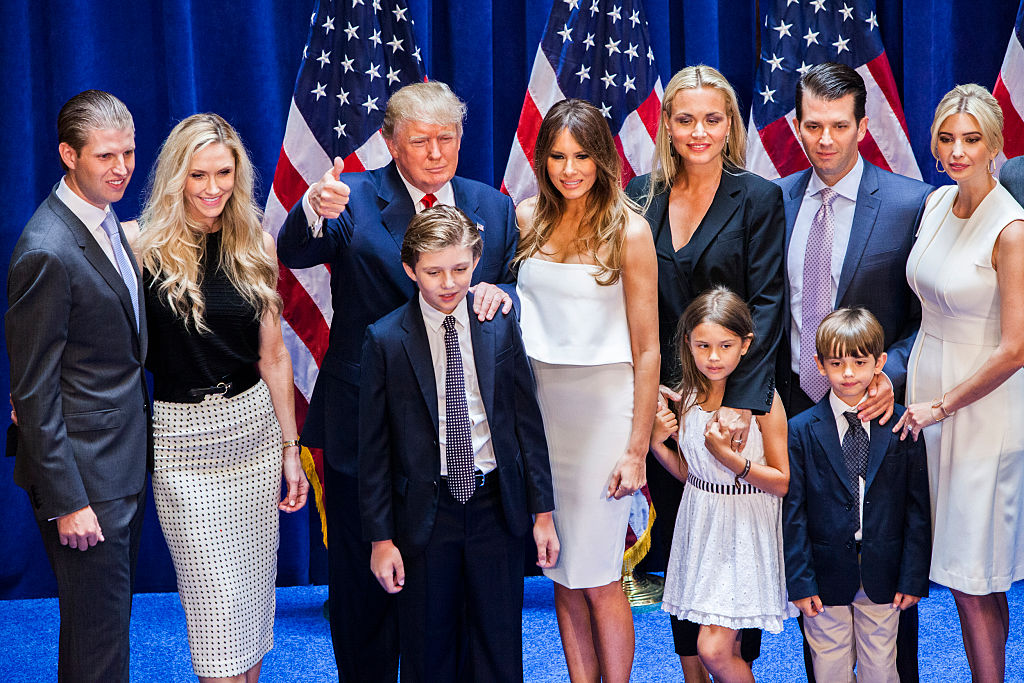 Donald Trump with his family