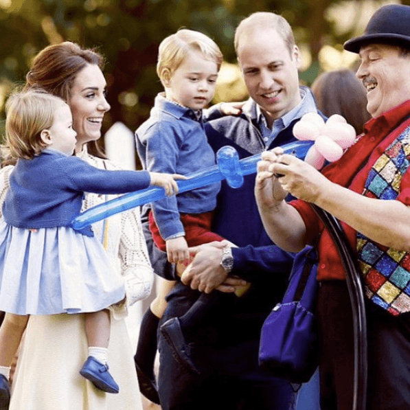 Kate Middleton, Prince William, Princess Charlotte, and Prince George in Canada