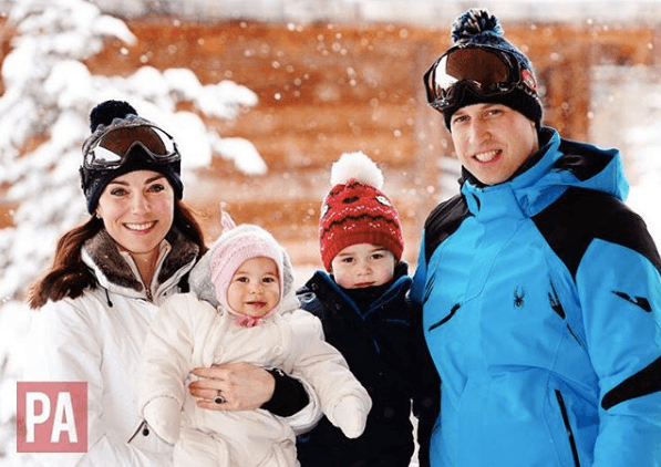 Kate Middleton, Prince William, Princess Charlotte, and Prince George