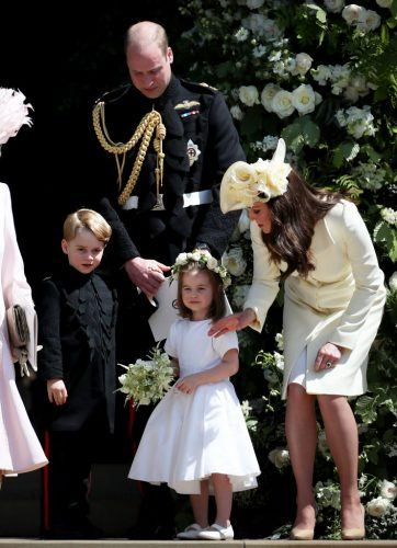 Kate Middleton,Prince George, Prince William , and Princess Charlotte