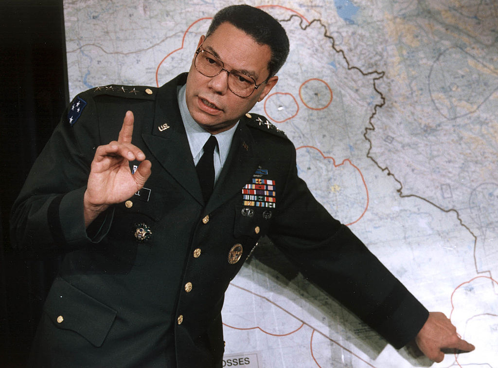 Colin Powell, Chairman Joint Chiefs of Staff, 1991, famous American military veterans