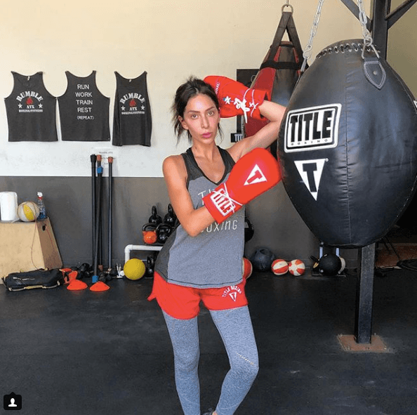 Farrah Abraham preparing for a boxing match
