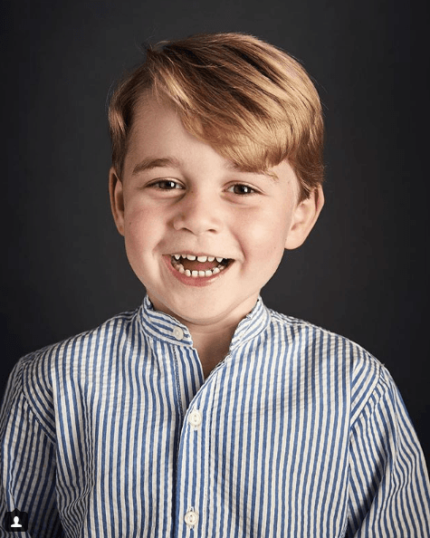 Prince George's official 4th birthday photo