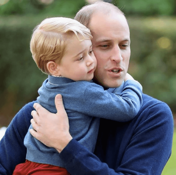 Prince George with his father, Prince William
