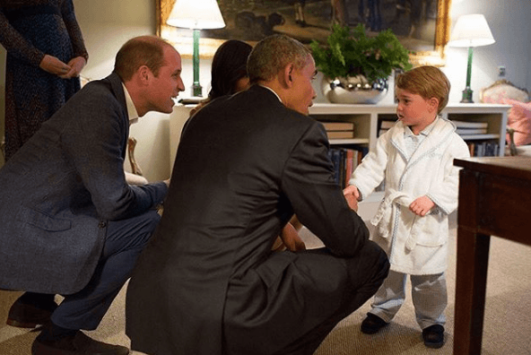 Prince George meets President Obama in 2016