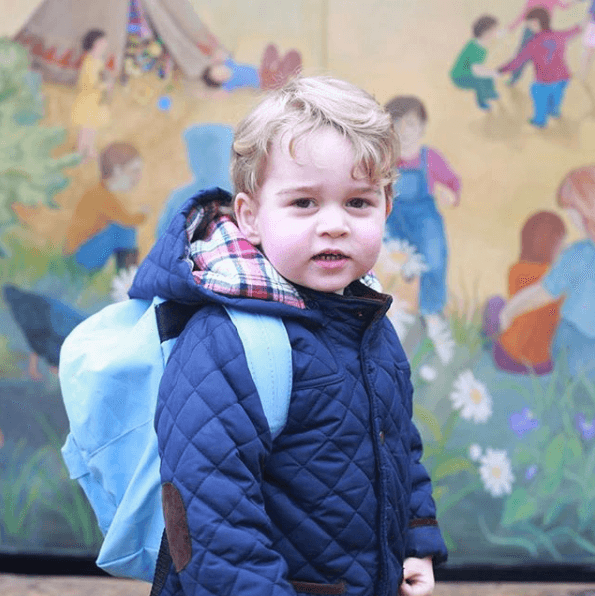 Prince George on his first day of nursery school