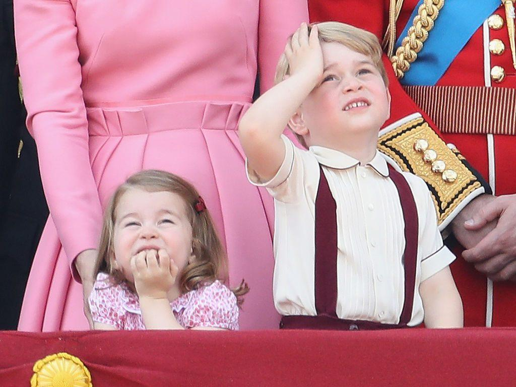 Princess Charlotte and Prince George attend Trooping the Colour
