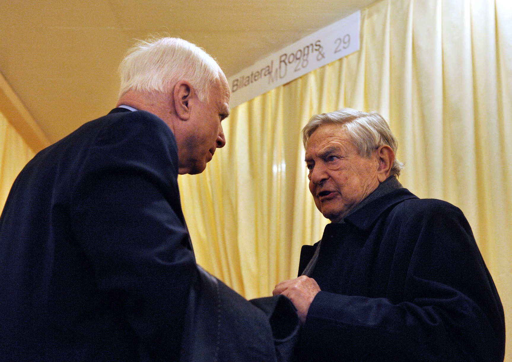 George Soros, John McCain in Switzerland