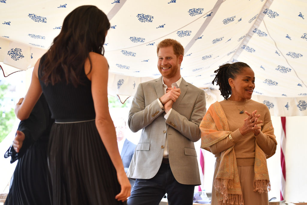 Prince Harry, Meghan Markle, and Doria Ragland