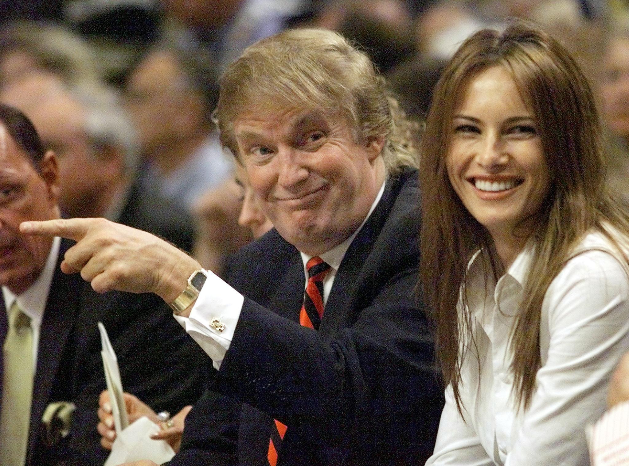 Donald Trump at a New York Knicks game