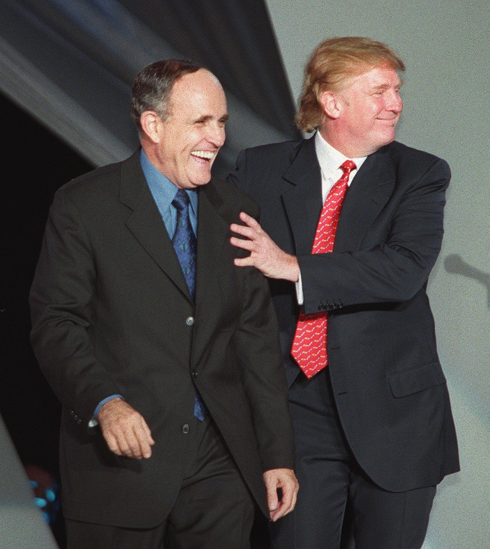 Donald Trump and Rudy Campbell