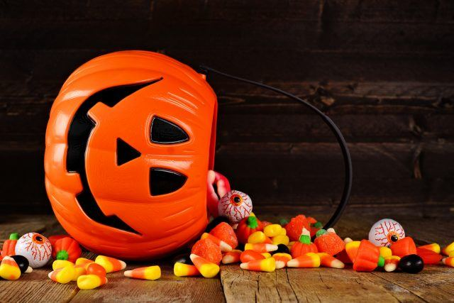 Candy spilling Halloween