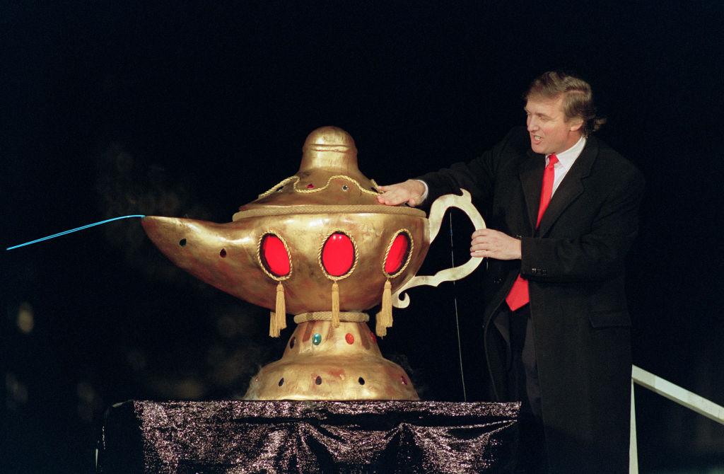 Donald Trump at Taj Mahal opening