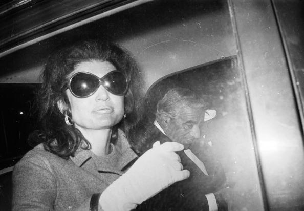 Greek shipping tycoon Aristotle Onassis with his new wife Jacqueline Onassis