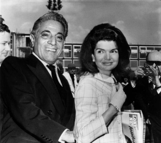 Millionaire shipping magnate Aristotle Onassis with his wife Jackie Bouvier Kennedy